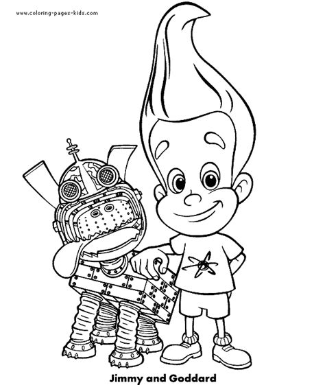 jimmy neutron color page coloring pages for kids