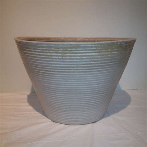 Large Ceramic Garden Planters by Large Ceramic Midcentury Planter At 1stdibs