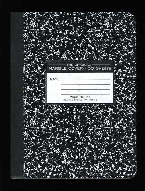 composition book template vernacular typography composition notebook 026