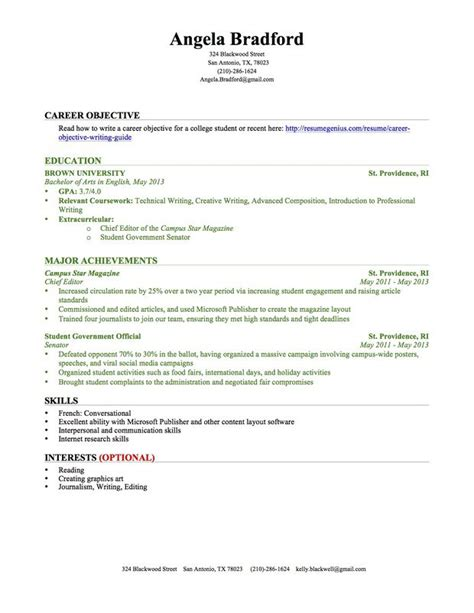 how to write a resume with no college degree college student resume exles experience