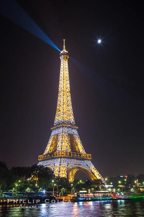 paris pictures river seine full moon and eiffel tower at night paris
