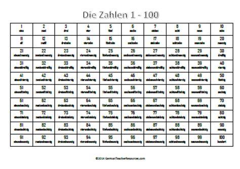 printable german numbers german numbers 1 100 german teacher resources