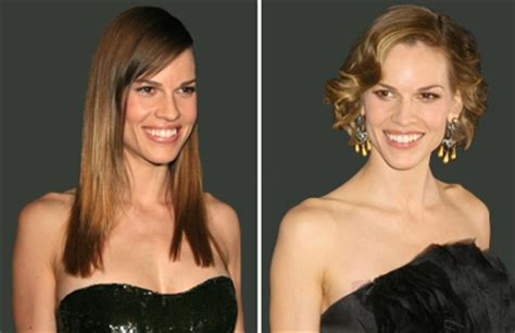 Hilary Swank Looks Great Until You Get To The by Donating Your Hair To Cancer Patients