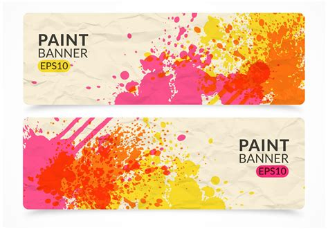 paint vector banner set   vector art stock