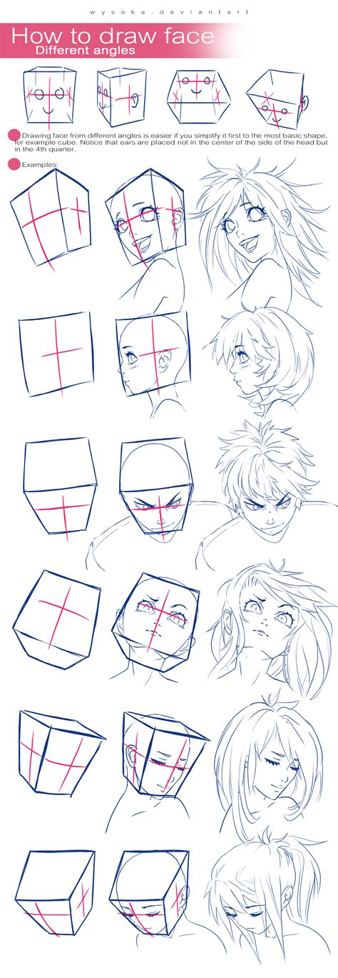 how to draw heads at different angles and tutorial on pass it forward deviantart