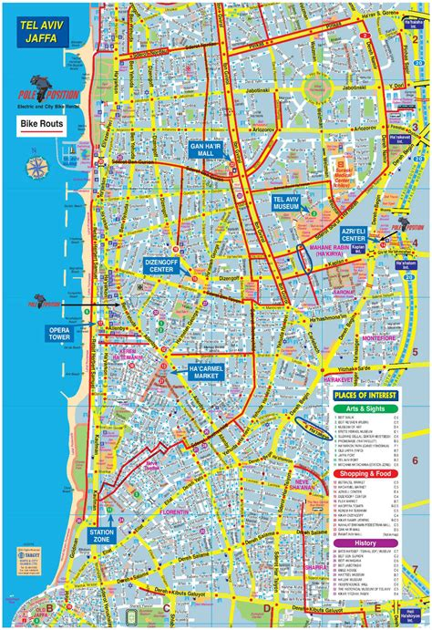 tel aviv map map of tel aviv tel pictures to pin on pinsdaddy