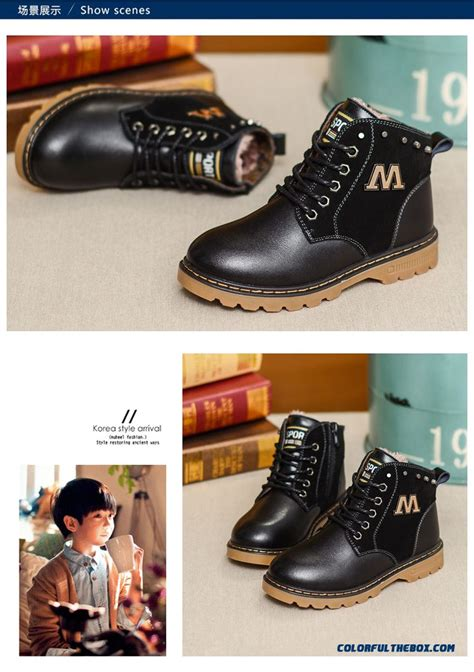 Boots Korea 3 cheap new winter boots martin boots boy big cotton boots leather boots shoes korean