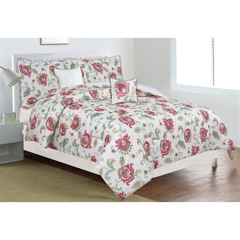 Home Trends Bedding Sets Home Dynamix Classic Trends Coral 5 Comforter Set F Q Ctrb 227 The Home Depot