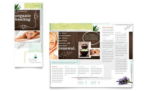 salon brochure templates day spa tri fold brochure template design