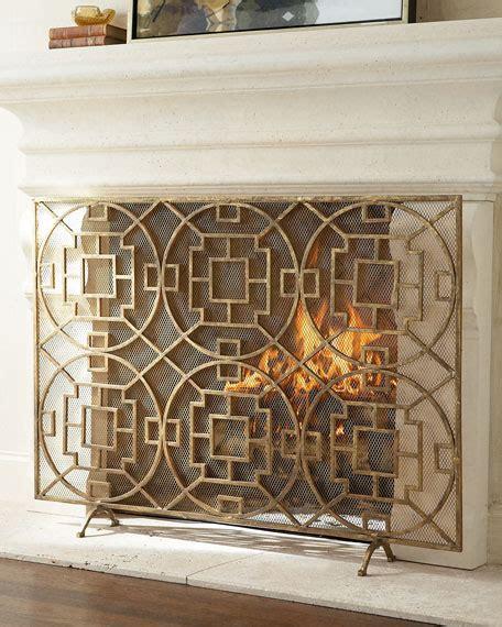 single panel fireplace screen gold pyra fireplace screen neiman marcus