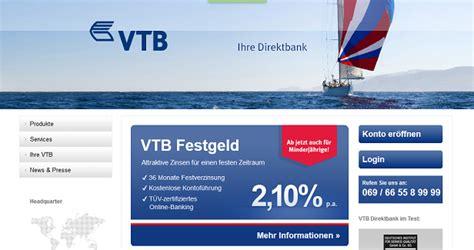 vtb bank deutschland vtb direkt festgeld im test jetzt erfahrungen lesen