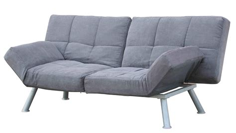 Gray Futon Folding Sleeper Sofa With Gray Metal Based Folding Sleeper Sofa