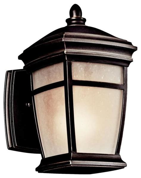 Houzz Outdoor Lighting Kichler Lighting 49270rz Mcadams One Light Outdoor Wall Sconce Transitional Outdoor