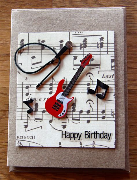 Handmade Songs - handmade cards handmade birthday cards band card