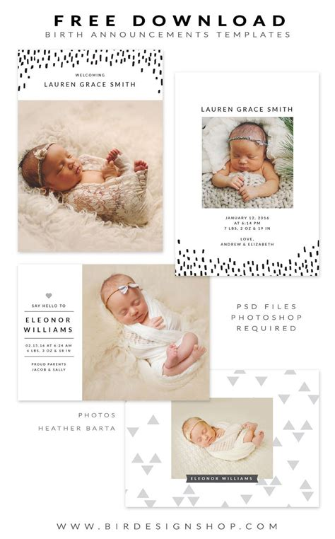 free baby announcement templates free birth announcements templates january freebie