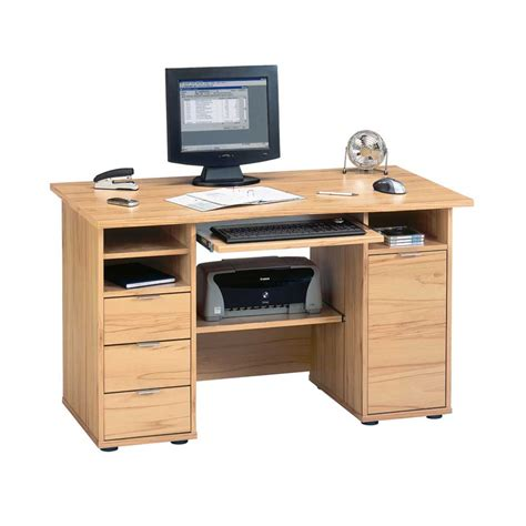 computertisch myronna in kernbuche dekor pharao24 de - Schreibtisch Computertisch
