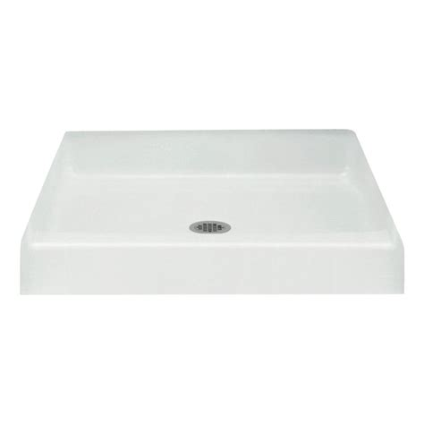 34 X 34 Shower Base by Sterling Advantage 36 In X 34 In Single Threshold Shower Base In White 62021100 0 The Home Depot