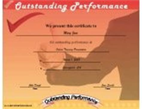 outstanding performance certificate template certificates of achievement free printable certificates