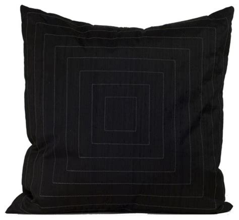 Black Bed Pillows | pyramide decorative pillow in black modern bed pillows