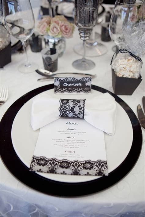 wedding table settings pictures black white 58 black and white wedding table settings happywedd