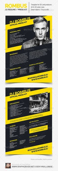 1000 Images About Dj Press Kit And Dj Resume Templates On Pinterest Press Kit Psd Templates Epk Template Psd