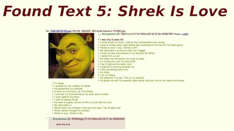 biography text is found text 5 shrek is love youtube
