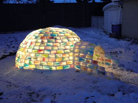 how to make an igloo in your backyard how to make a rainbow coloured igloo using milk cartons