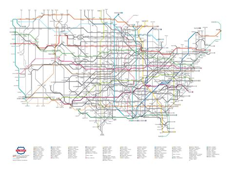 us map with highway routes u s highway routes as a subway map colossal
