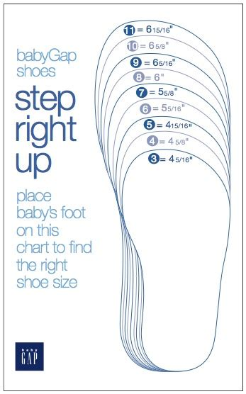 Baby Baby Shoe Sizes Shoe Measuring Template