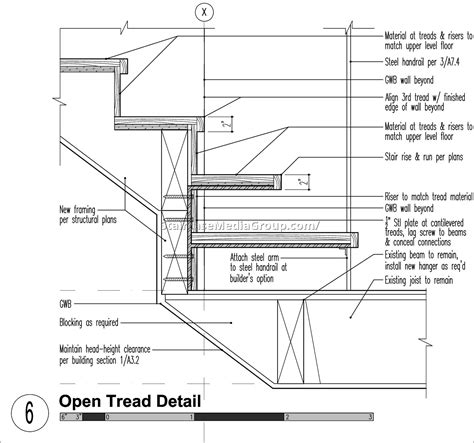Residential Handrail Code Metal Staircase Detail Drawing 4 Best Staircase Ideas