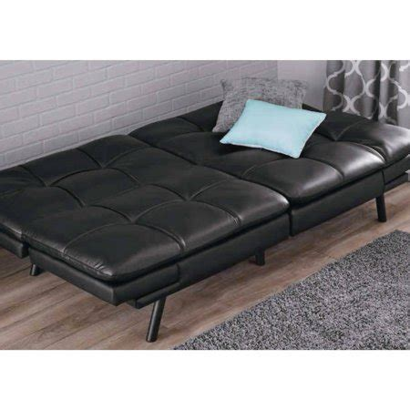 black futon mainstays memory foam futon black pu best futon and review