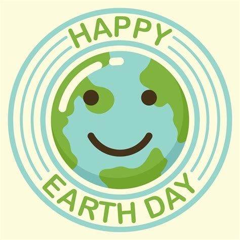 happy earth day background download free vector art