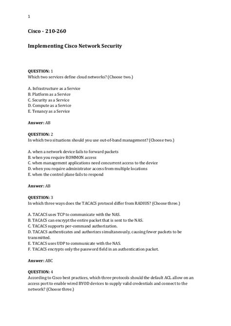 Pdf Ccna Security 210 260 Study Material by Cisco 210 260 Iins Questions Answers Free Pdf