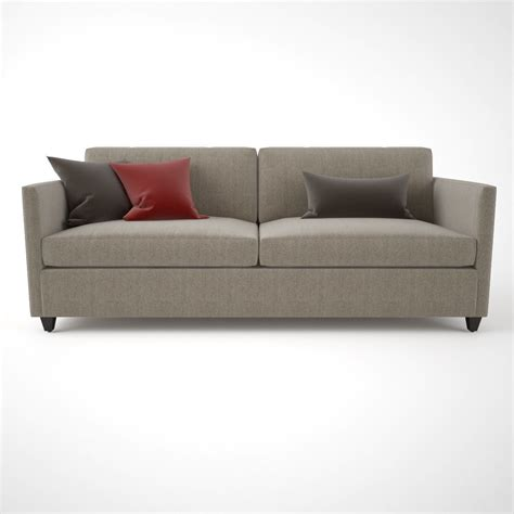 crate and barrel apartment sofa crate and barrel dryden apartment sofa 3d model max obj