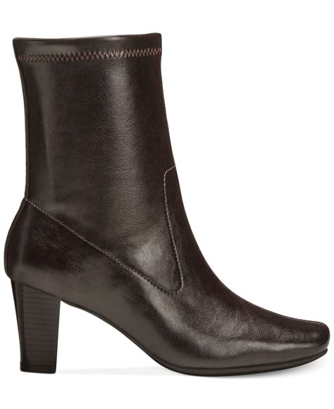 aerosole boots aerosoles geneva dress boots in brown lyst