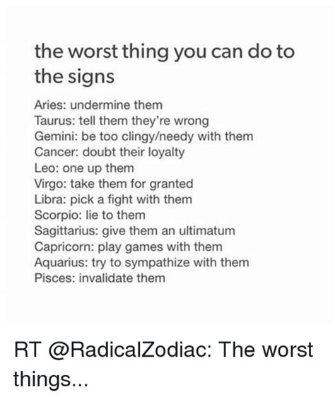 the worst thing you can do to the signs aries undermine