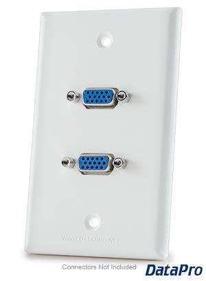 Vga Wall Plate vga wall plate dual datapro