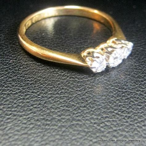 trilogy antique engagement ring 22ct