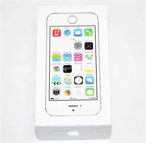apple iphone 5s 16 gb white a1533 me306ll a at t clean