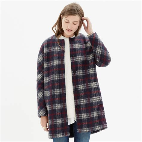 Plaid Coat madewell plaid estate coat lyst