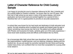 Character Reference Letter For Child Custody Template by Free Character Reference Letter For Child Custody Cover