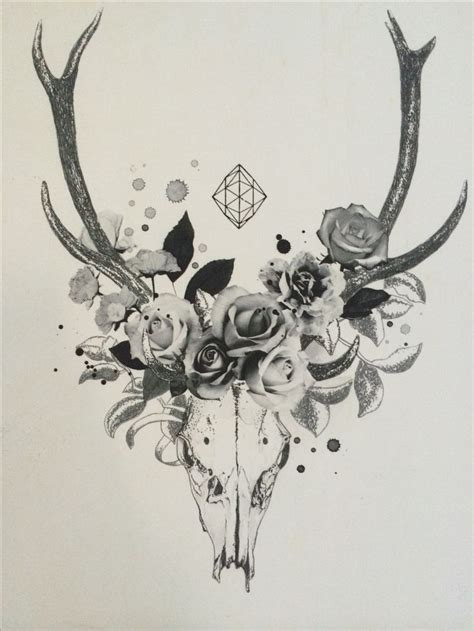 deer skull tattoo ink design ink tatting and tatoo