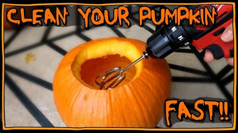 how to clean out your pumpkin fast i am kristin youtube