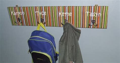 backpack rack for home backpack hooks home ideas pinterest coat racks