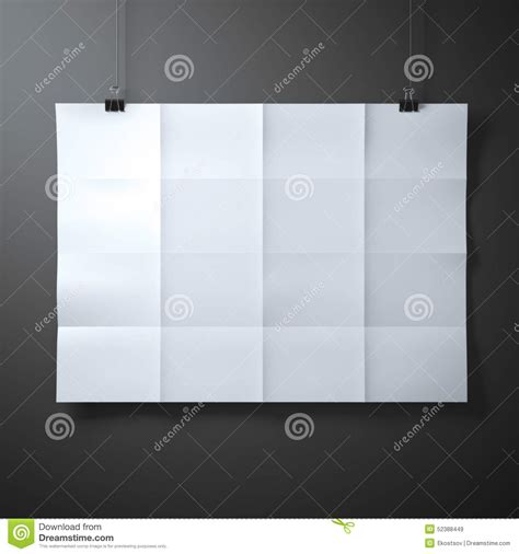 Folded Sheet Of Paper - white folded sheet of paper stock photo image 52388449