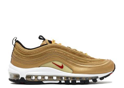 Nike Air Max 97 Gold 2017 air max 97 qs gs quot metallic gold quot 2017 release quot quot nike 918890 700 metallic gold varsity