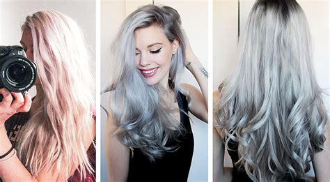 how i got gray hair steel grey hair how i got it grazette of sweden youtube