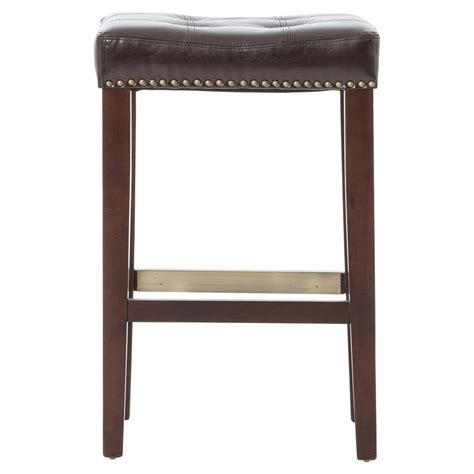 Tufted Leather Counter Stool by Milton Espresso Brown Leather Tufted Counter Stool Kathy