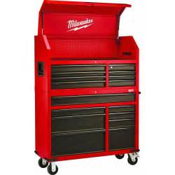 milwaukee 46 in 16 drawer tool chest and rolling cabinet