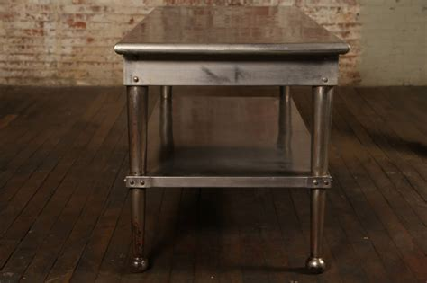 metal kitchen tables vintage stainless steel kitchen table at 1stdibs